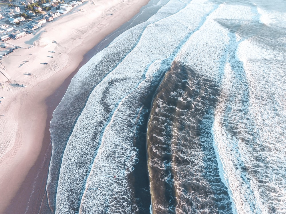 aerial view photography of sea waves