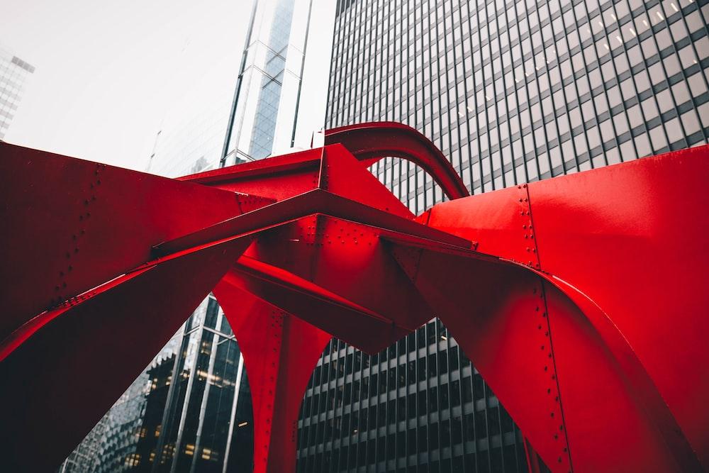 red metal frame