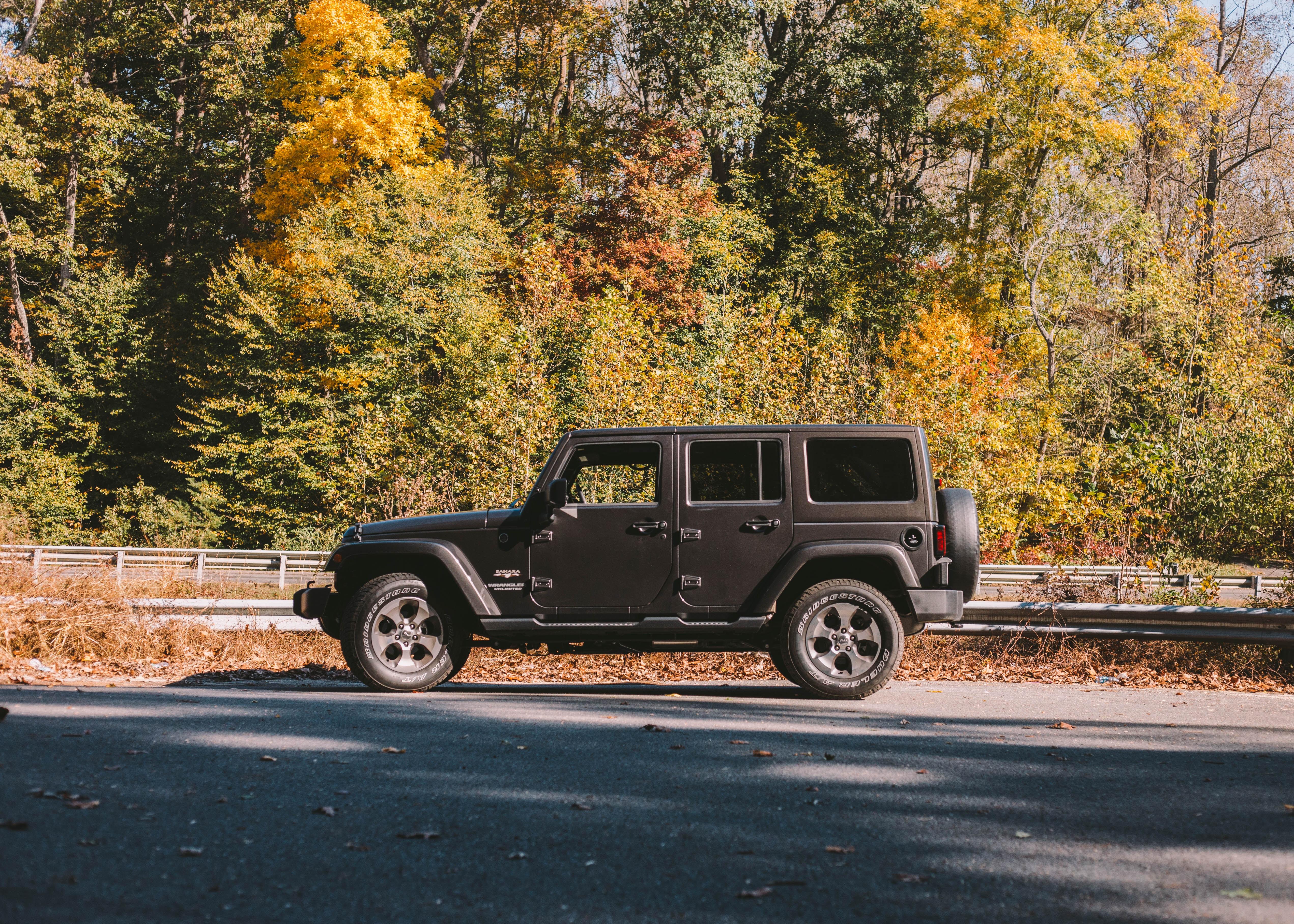 black SUV outdoor