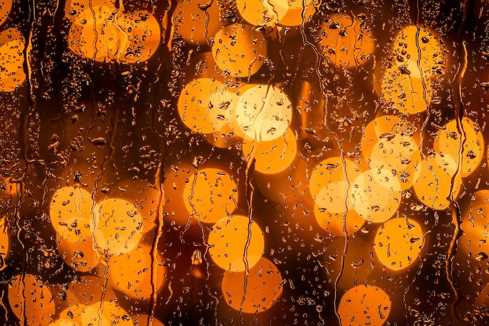 orange light bokeh