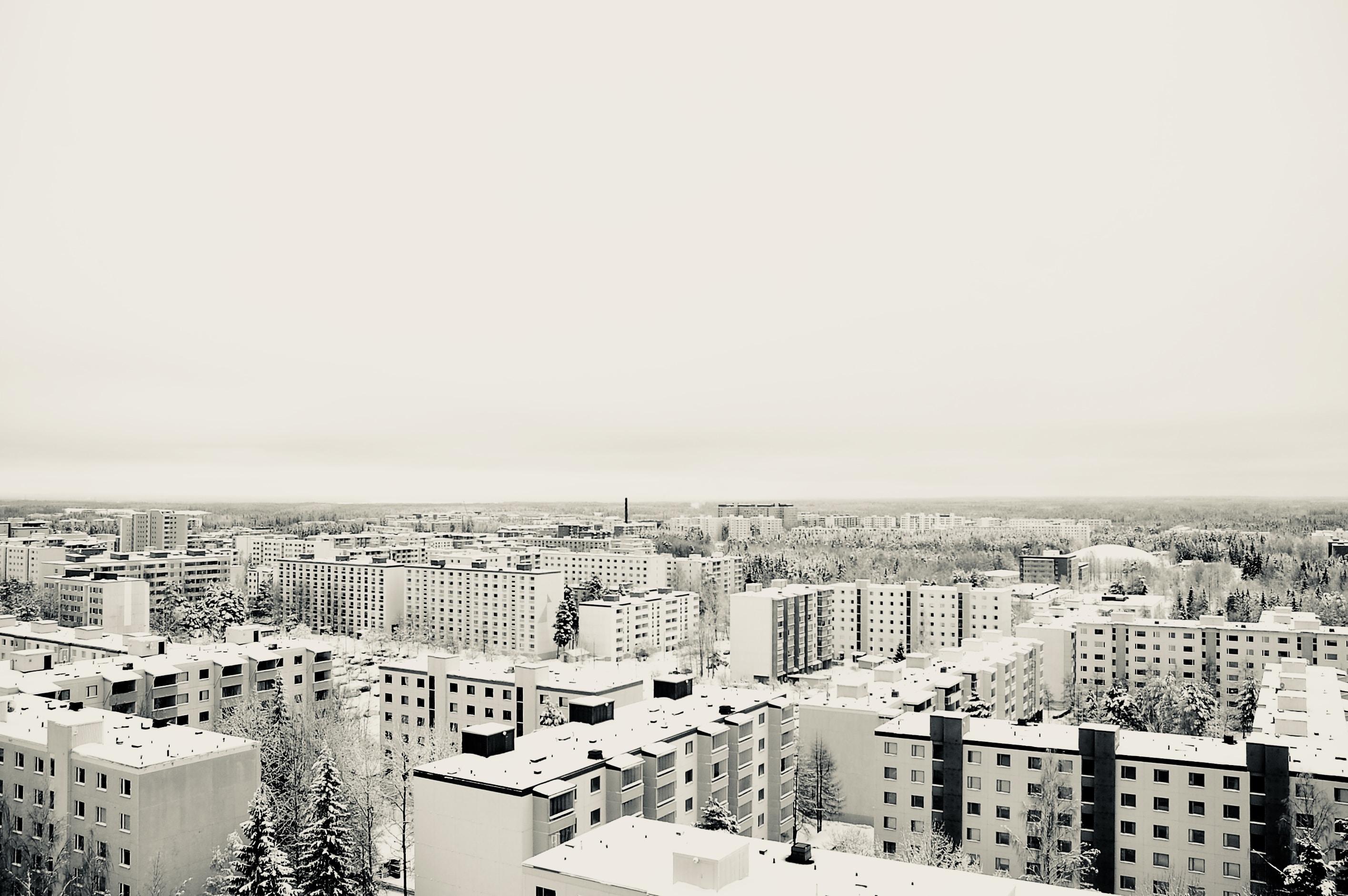 high angle photo of cityscape