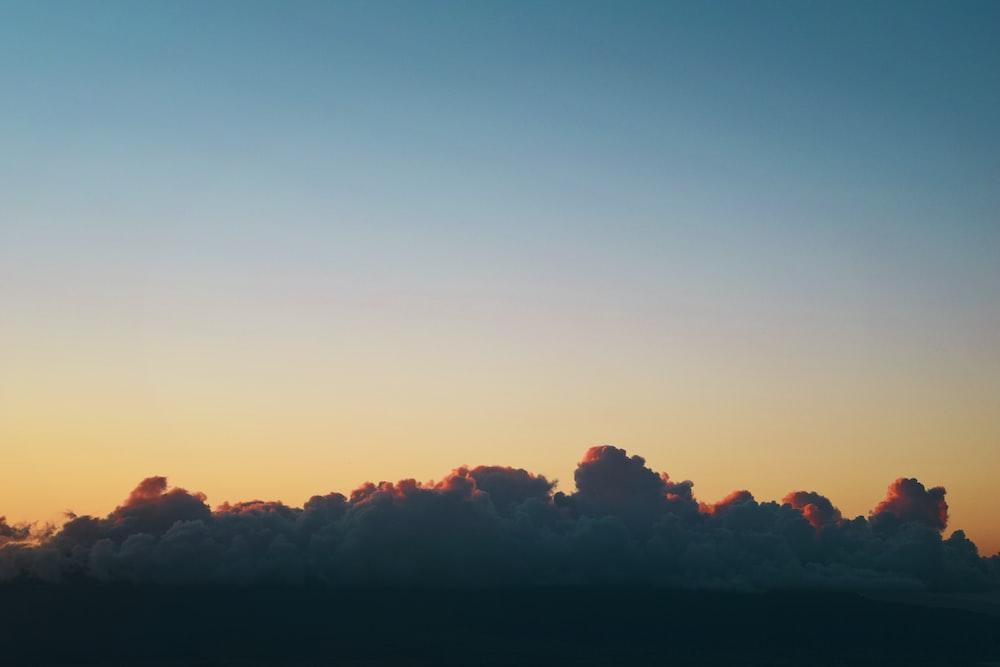 cloud formation under blue sky