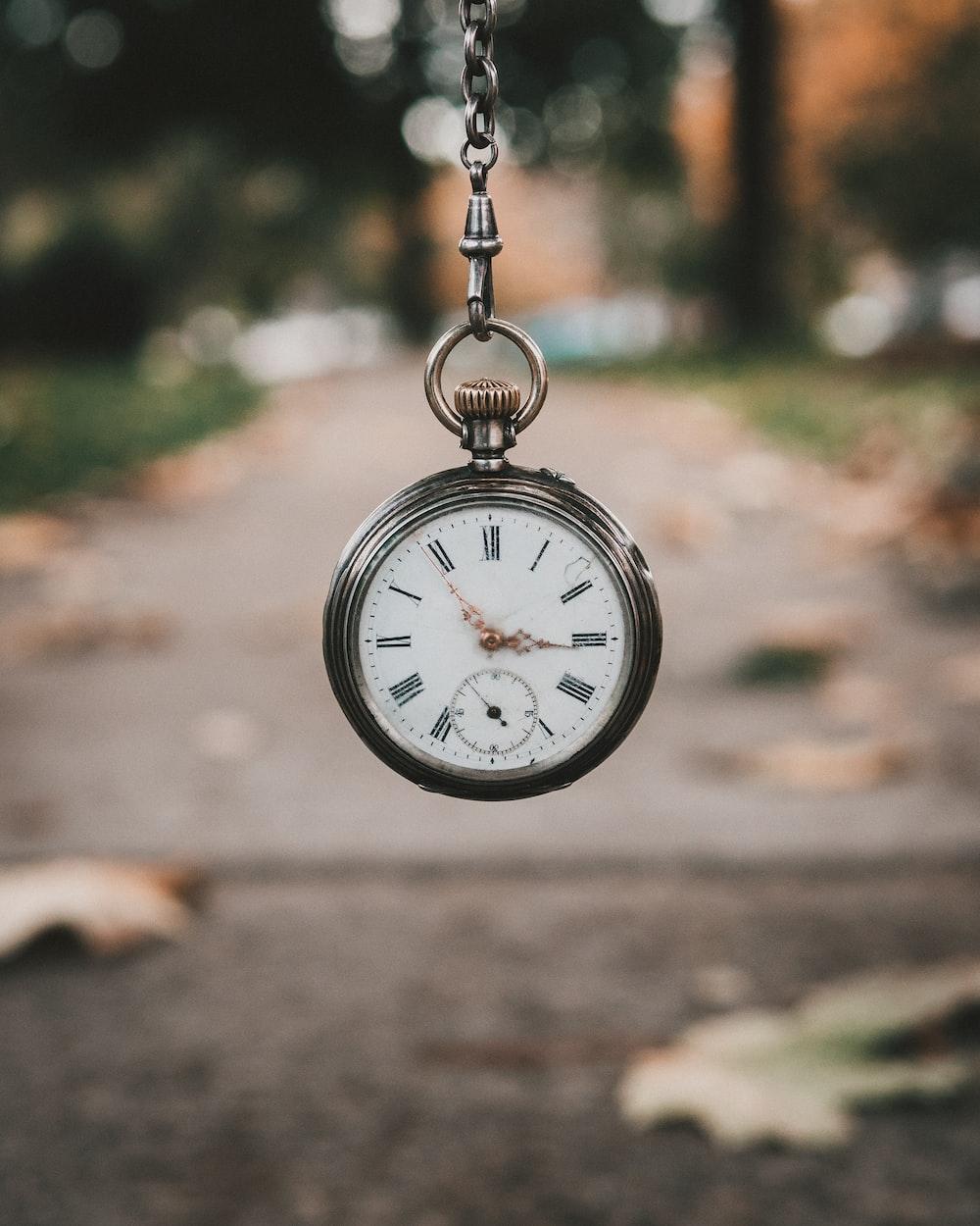 pocket watch at 3:55