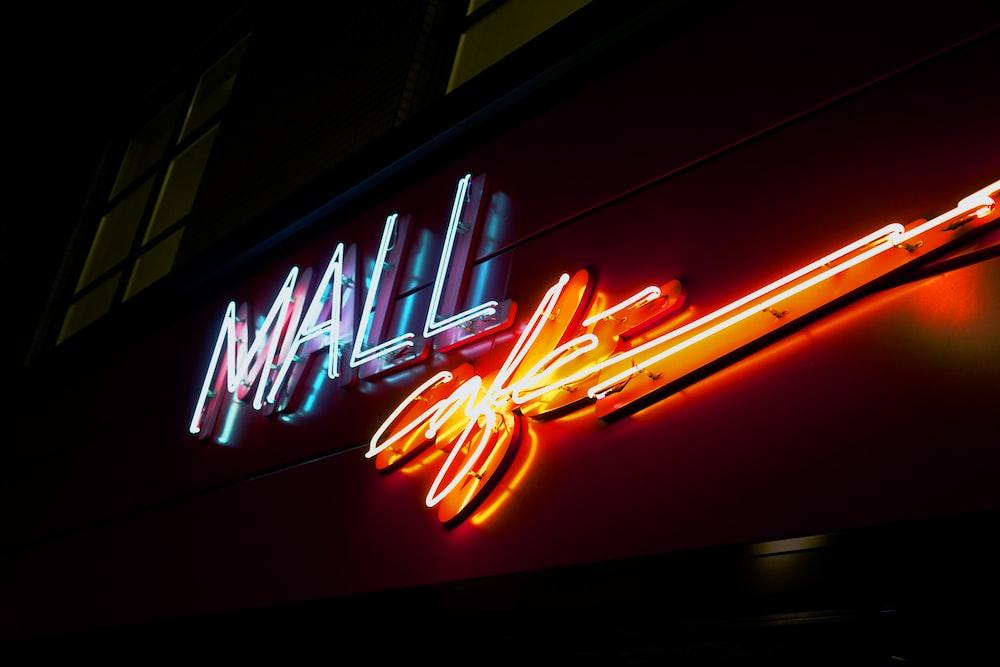 Mall Cafe signage