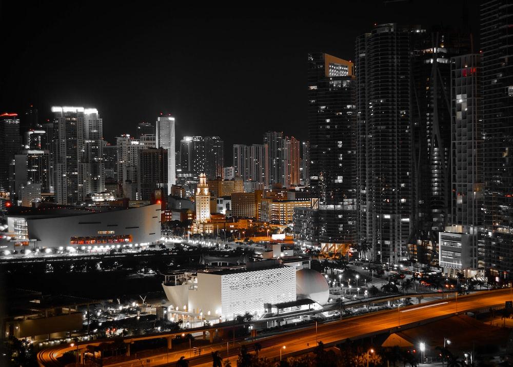 urban city during nighttime