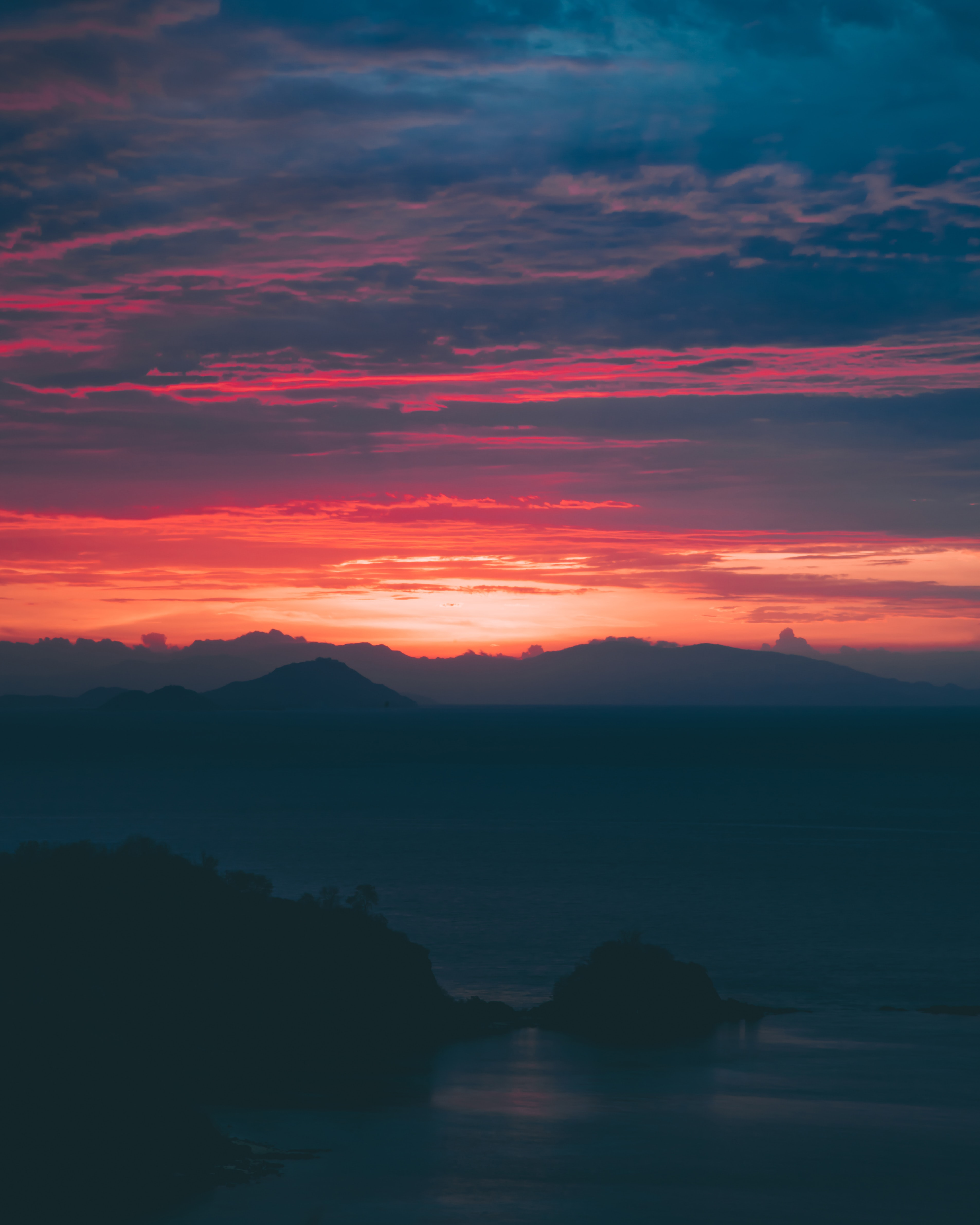 golden hour photo of mountain ranges