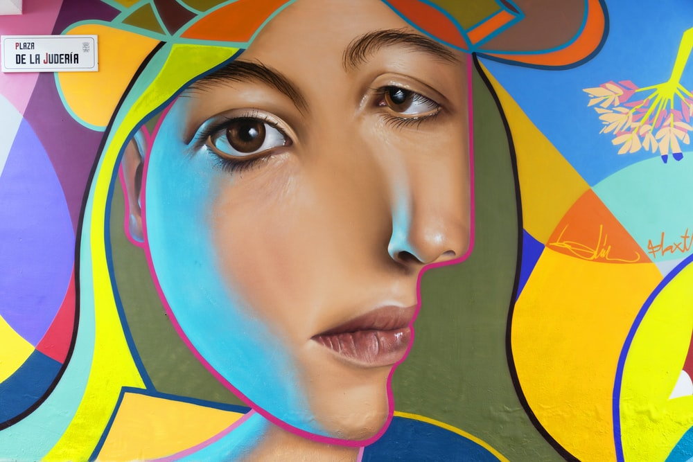 woman's face abstract painting