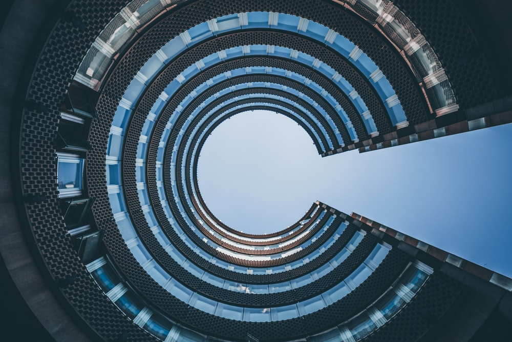 low angle photography of architectural building