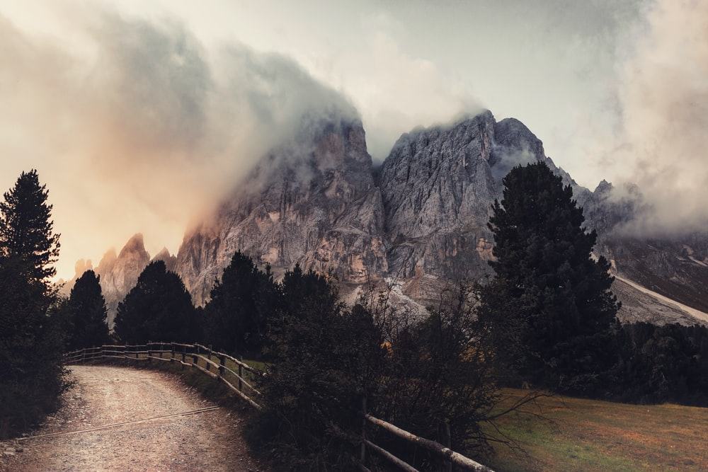 landscape photography of gray mountain