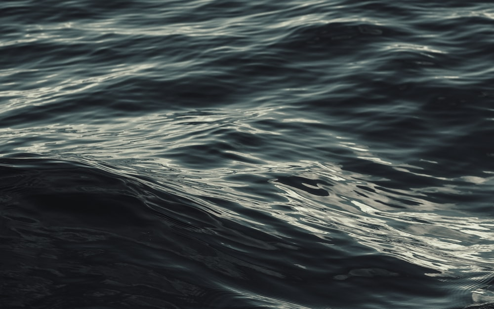 closeup photo of rippling sea water