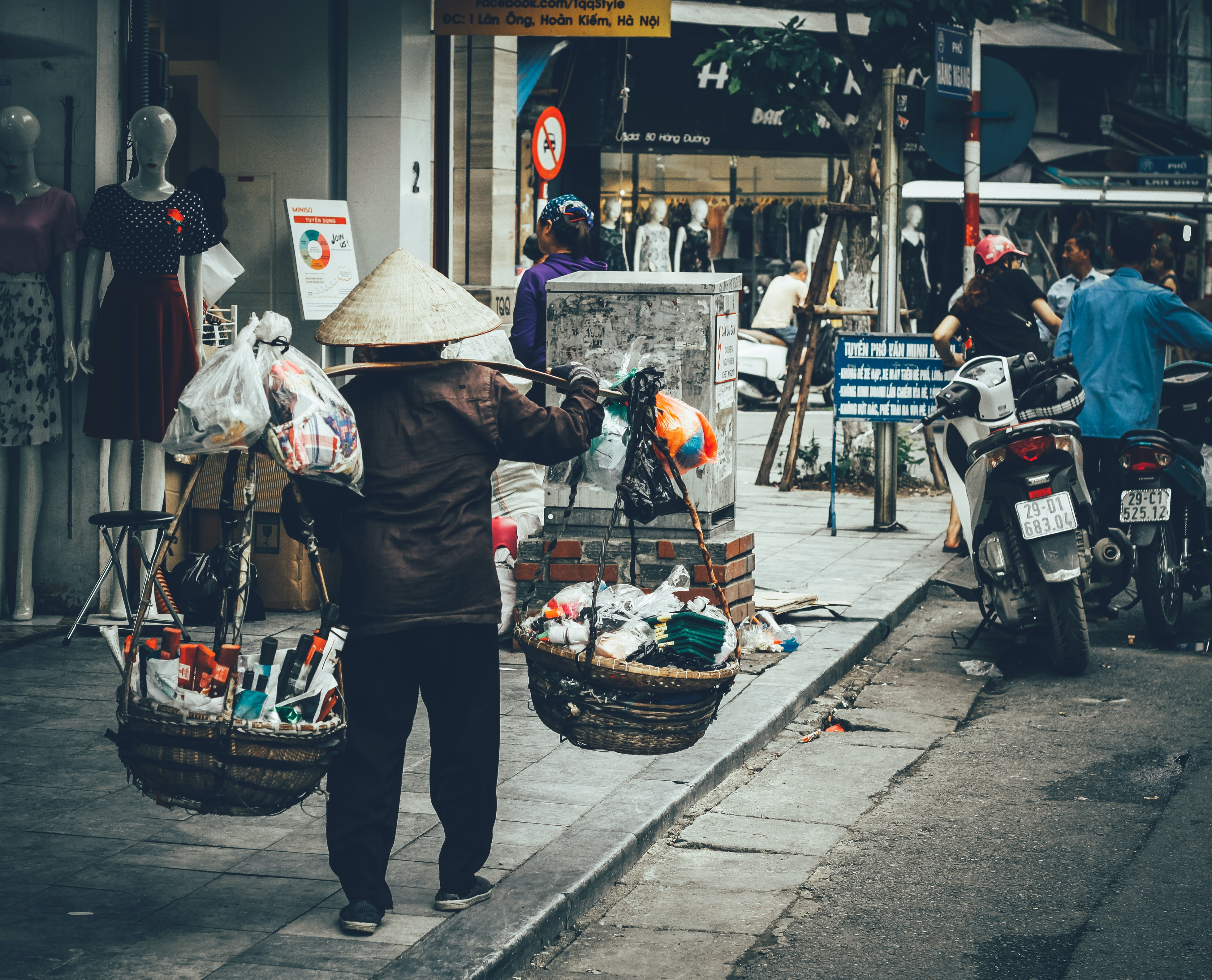 person selling products on the street