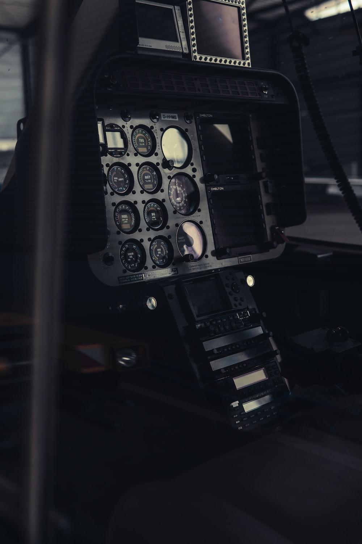shallow focus photography of black gauges