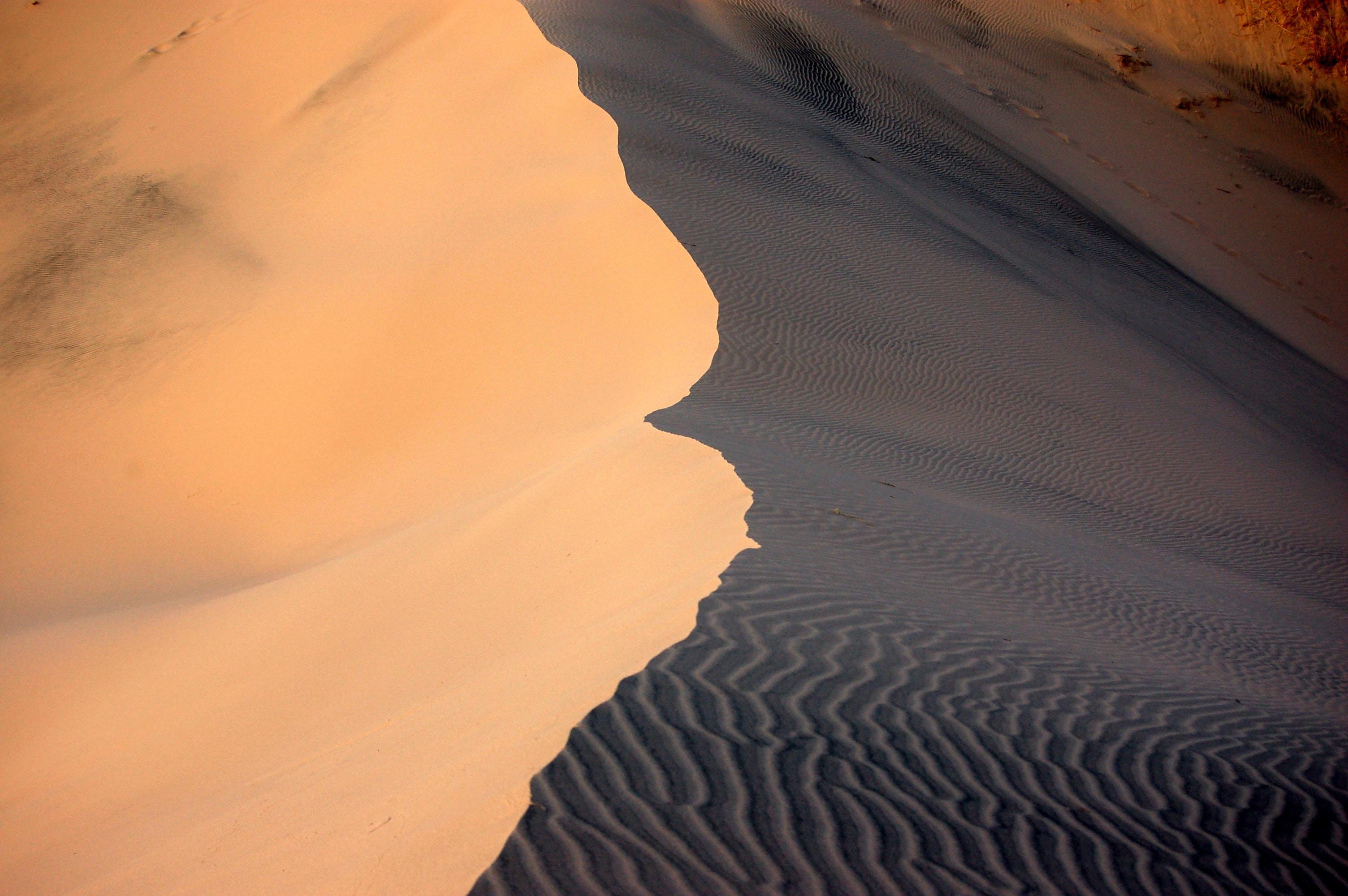 desert hill at daytime