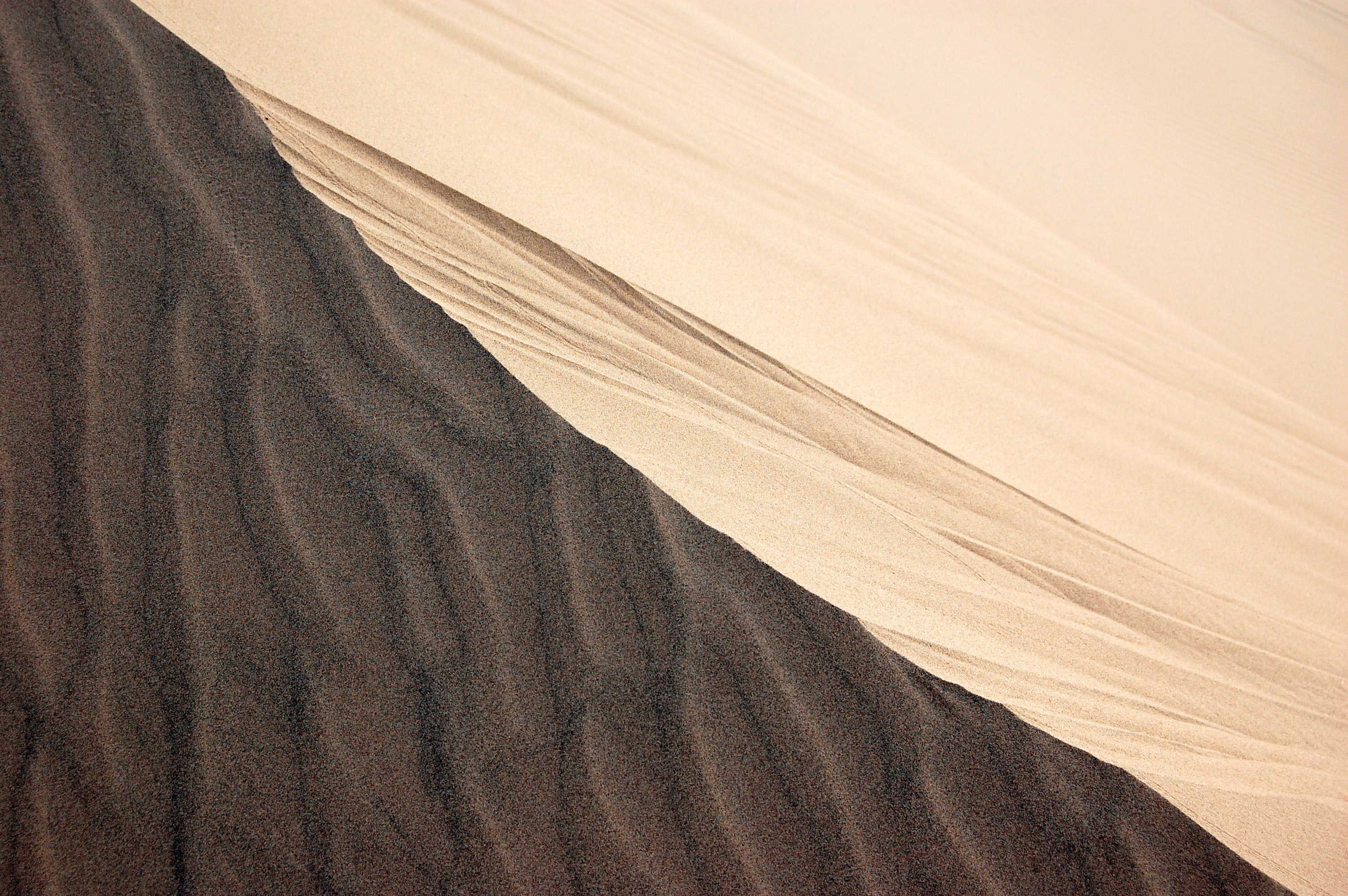 gray and white sand photography