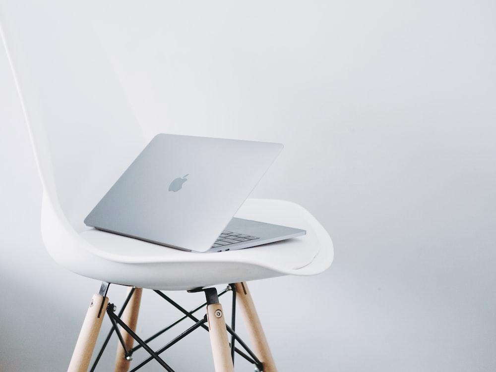 MacBook Air on chair
