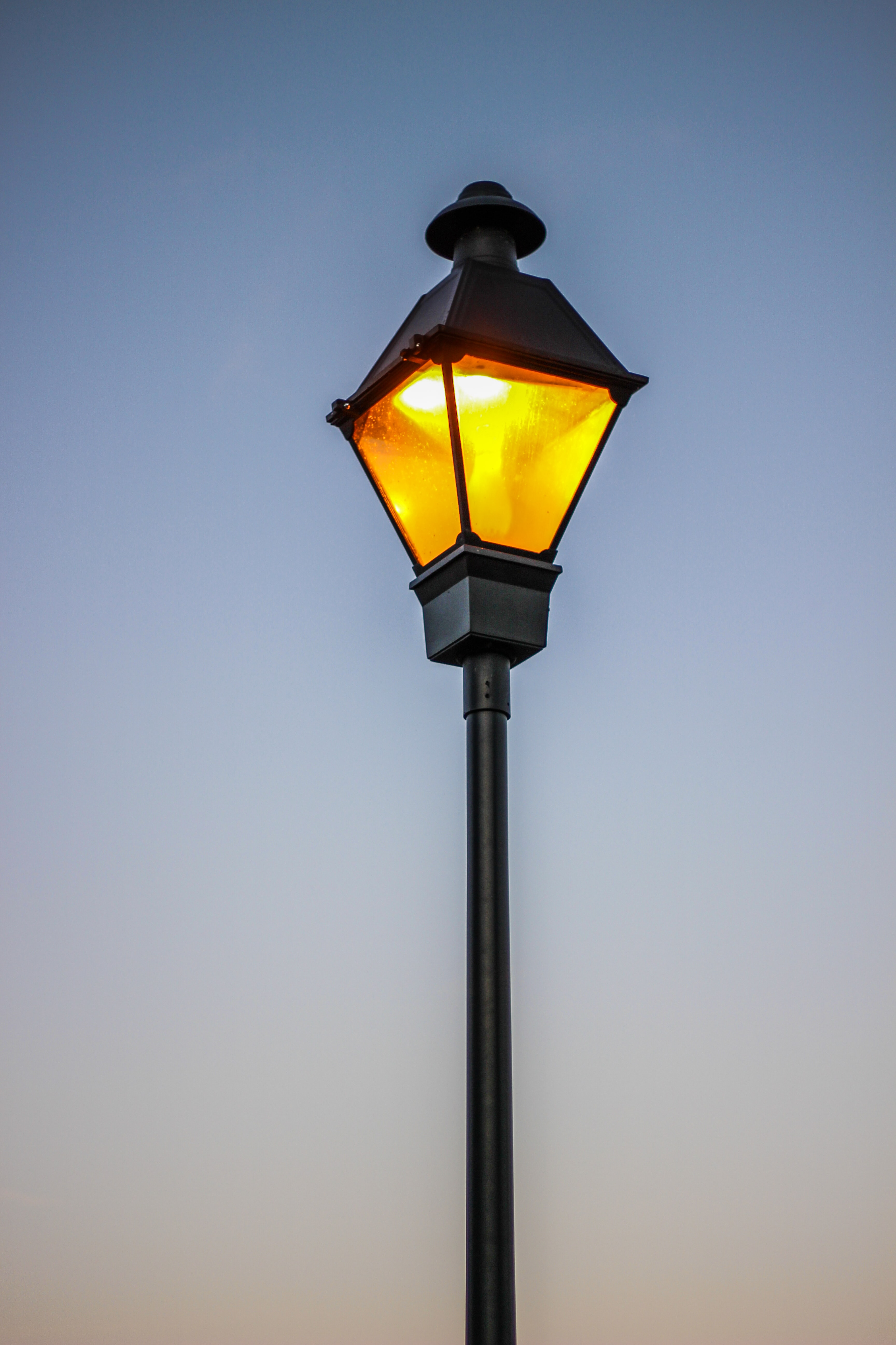 architectural photography of street lamp