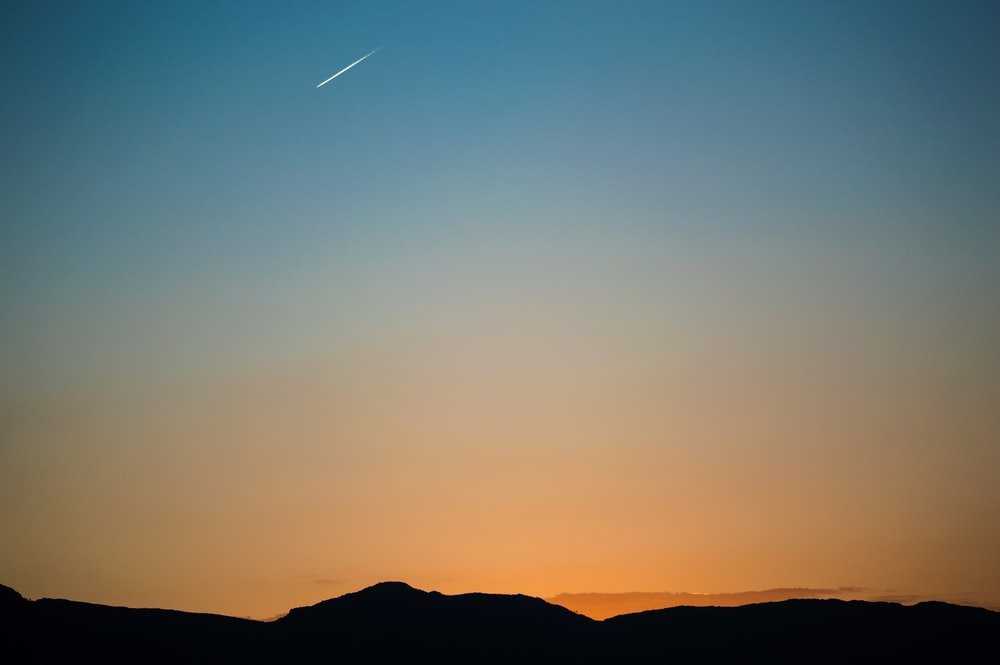 landscape photography of comet