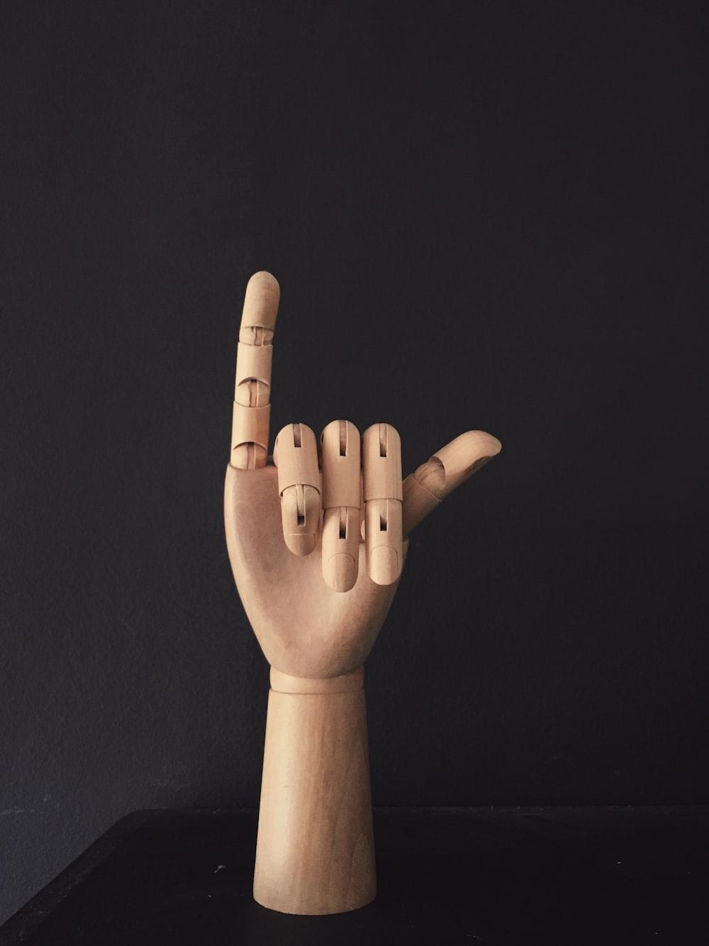 wooden hand decor