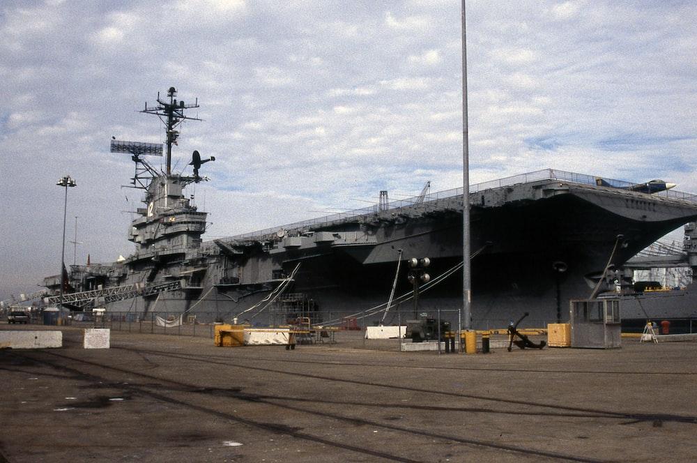 grey carrier ship