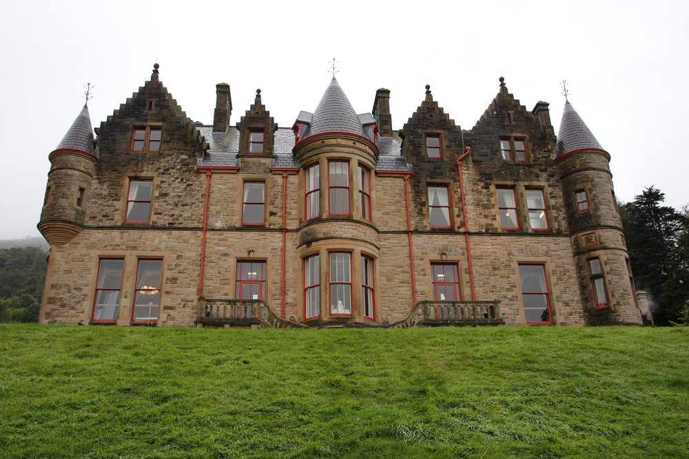 brown castle under white sky