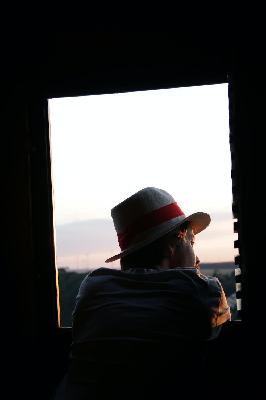 man wearing cowboy hat