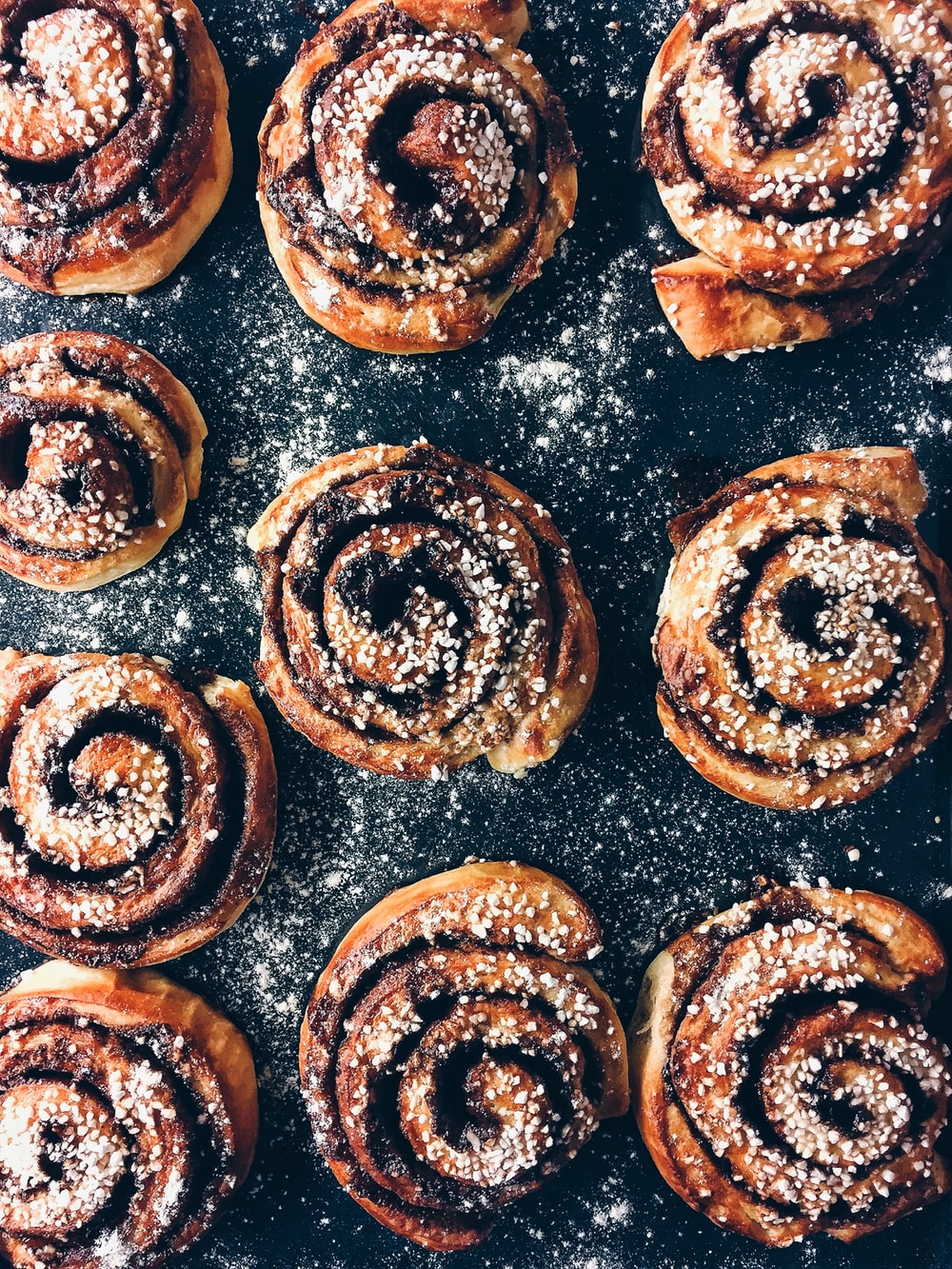 black and brown pastries