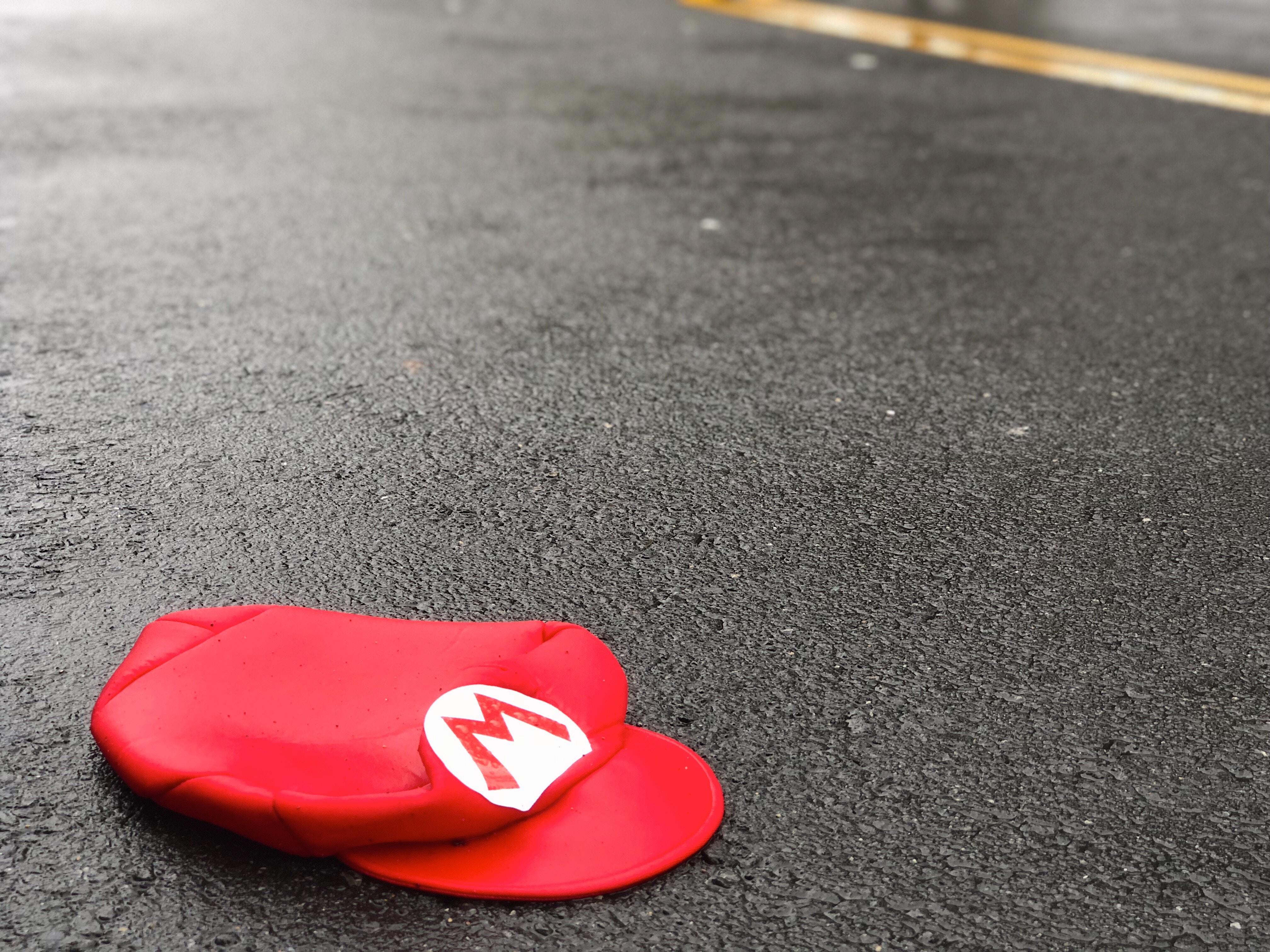 Mario hat on ground