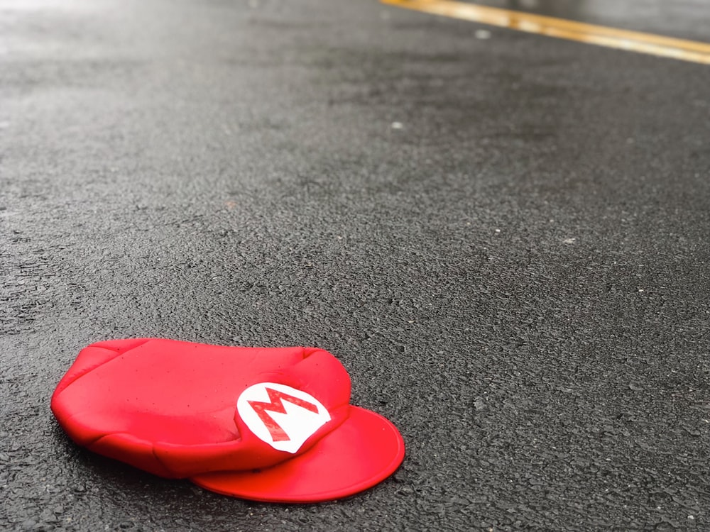 Mario hat on ground