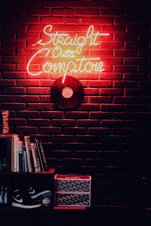 Straight Outta Compton Neon Signage