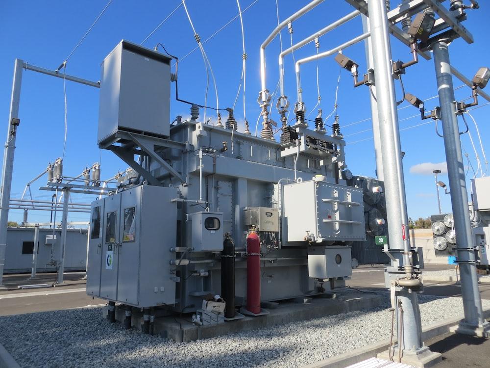 white electric power generator