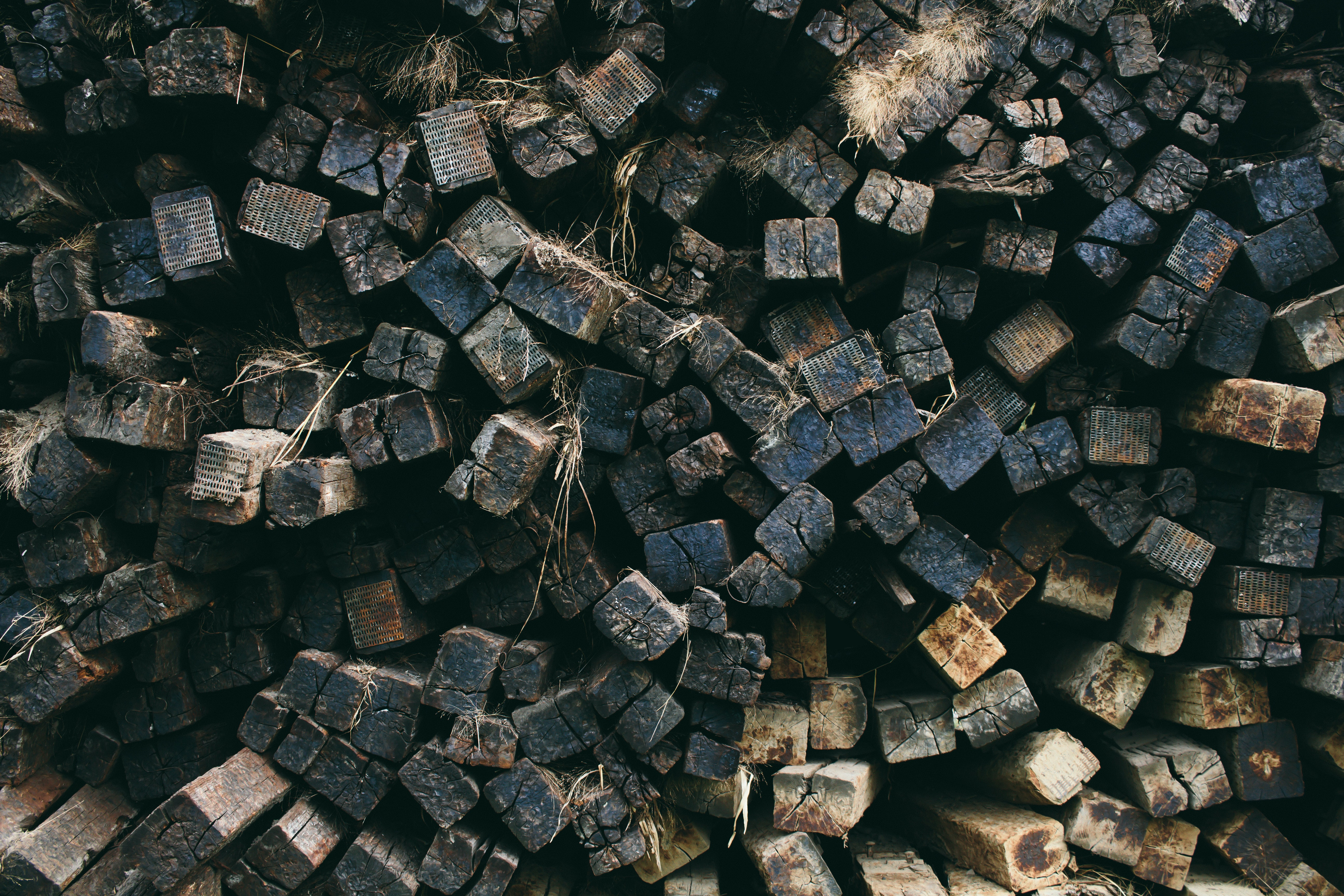 photo of pile of firewood