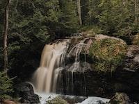 silk water photography of waterfalls