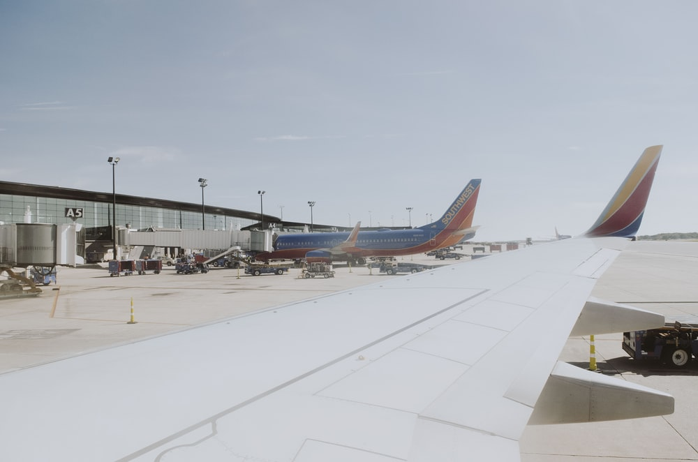 passenger planes on airport at daytime