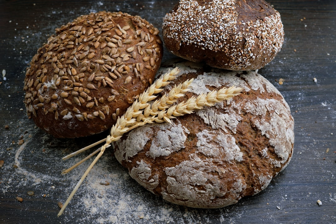 Here you can see the crispy, wonderful smelling Franziskaner-loaf and rye whole-grain tin loaf all baked by Franziskaner bakery in Bozen (Italy)