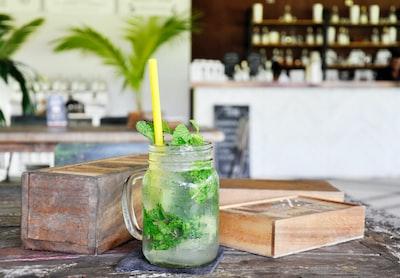 photo of beverage with yellow straw phuket zoom background