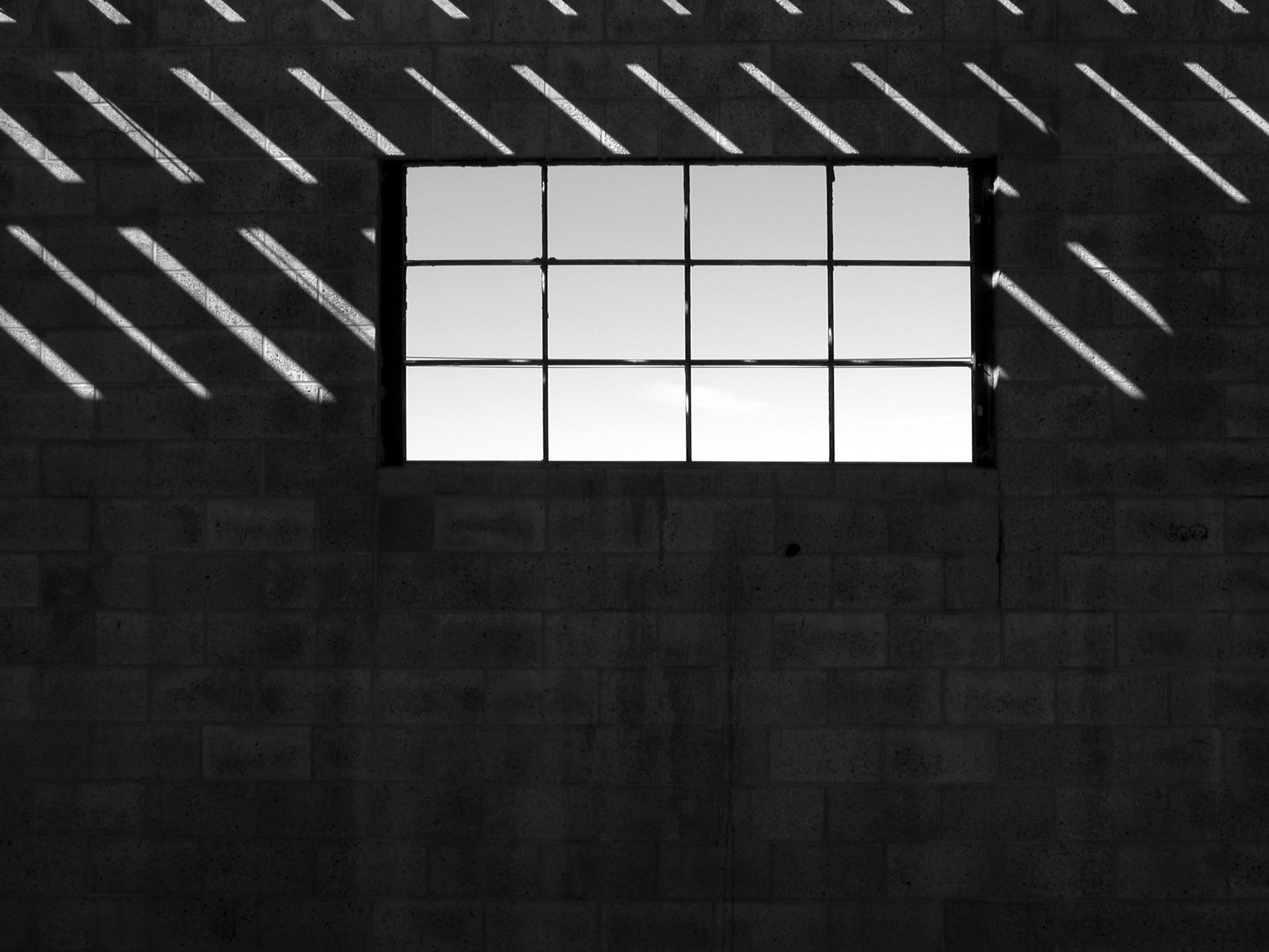 black and gray window frame