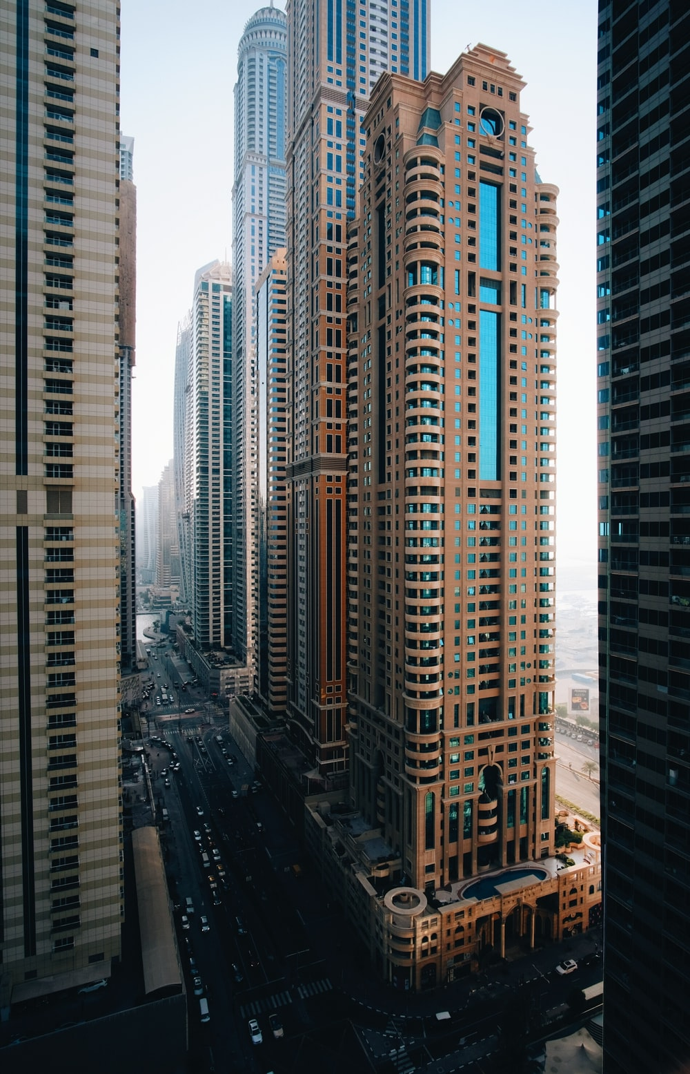 architectural photography of city buildings