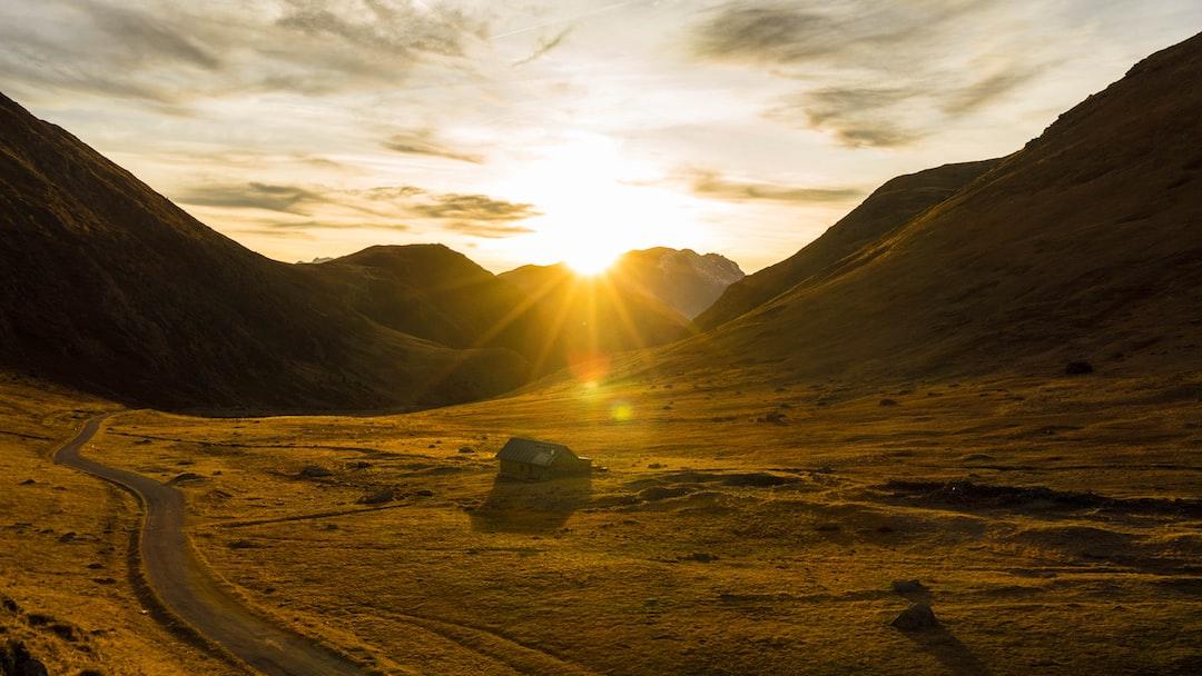 Golden hour at Col de Sarenne,Oisans, France