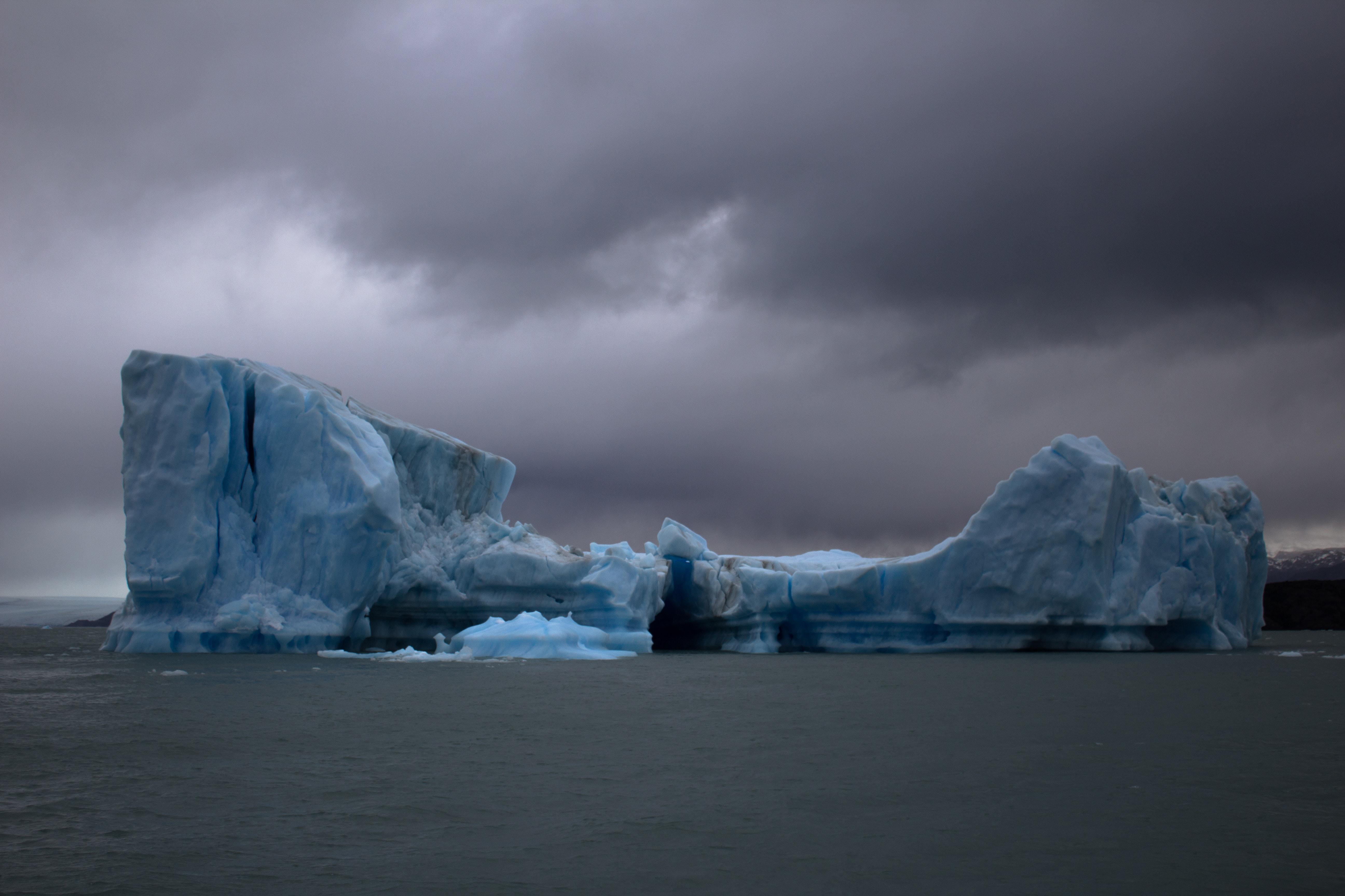 iceberg on body of water