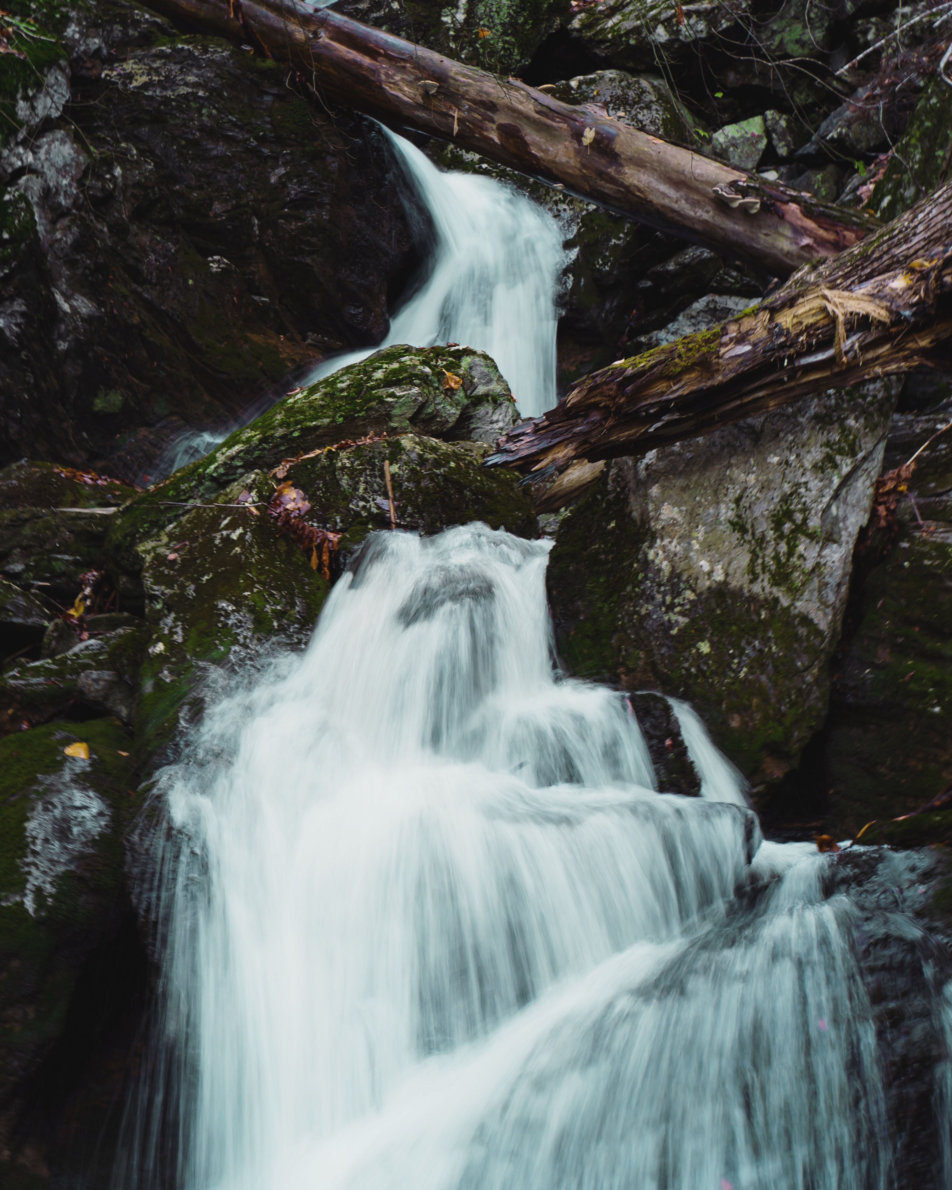 timelapse photo of waterfall