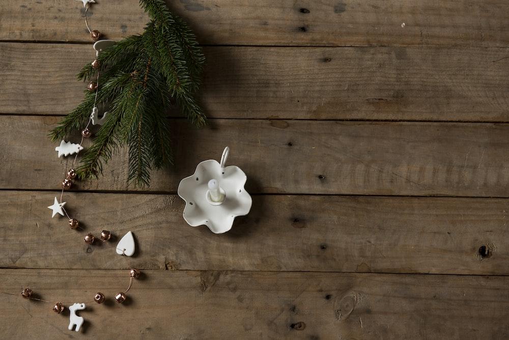 white ceramic decor