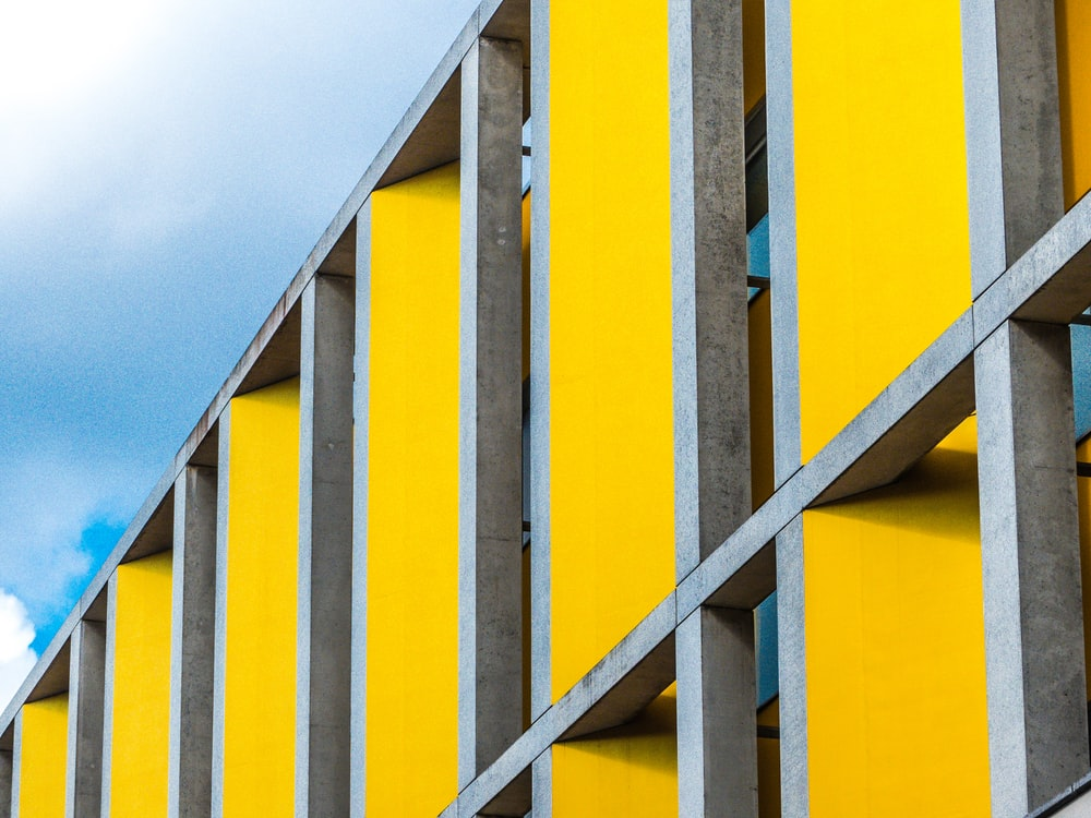 yellow and grey architectural building
