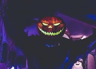 lighted Jack-o'-Lantern