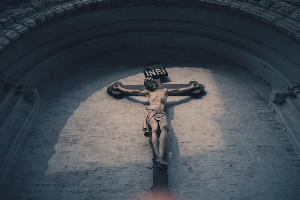 Inri crucifix at daytime