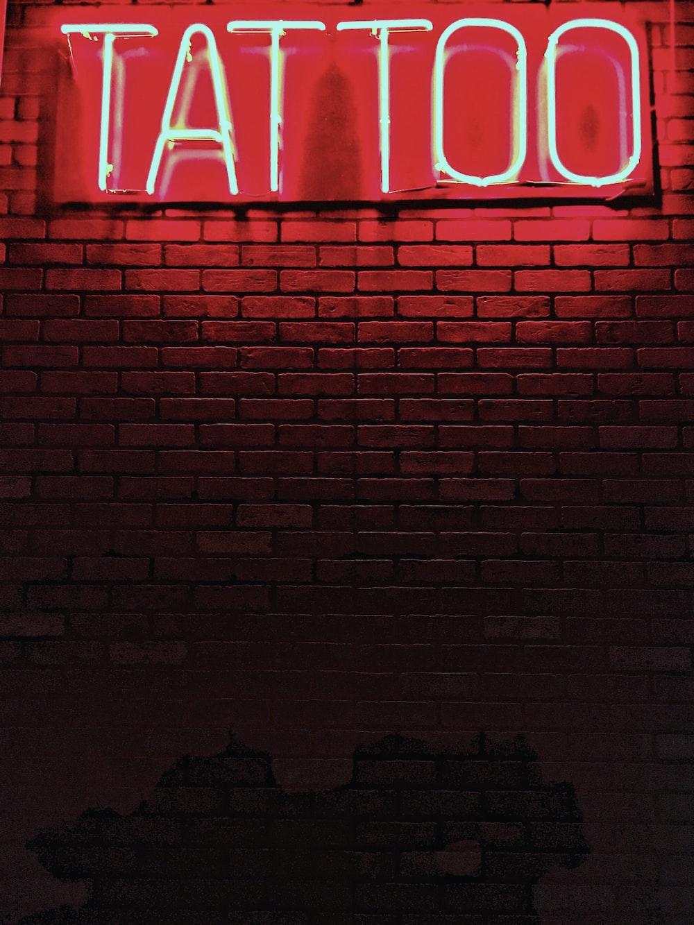 red Tattoo neon light signage