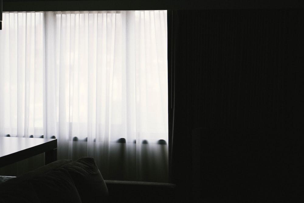 white grommet curtain