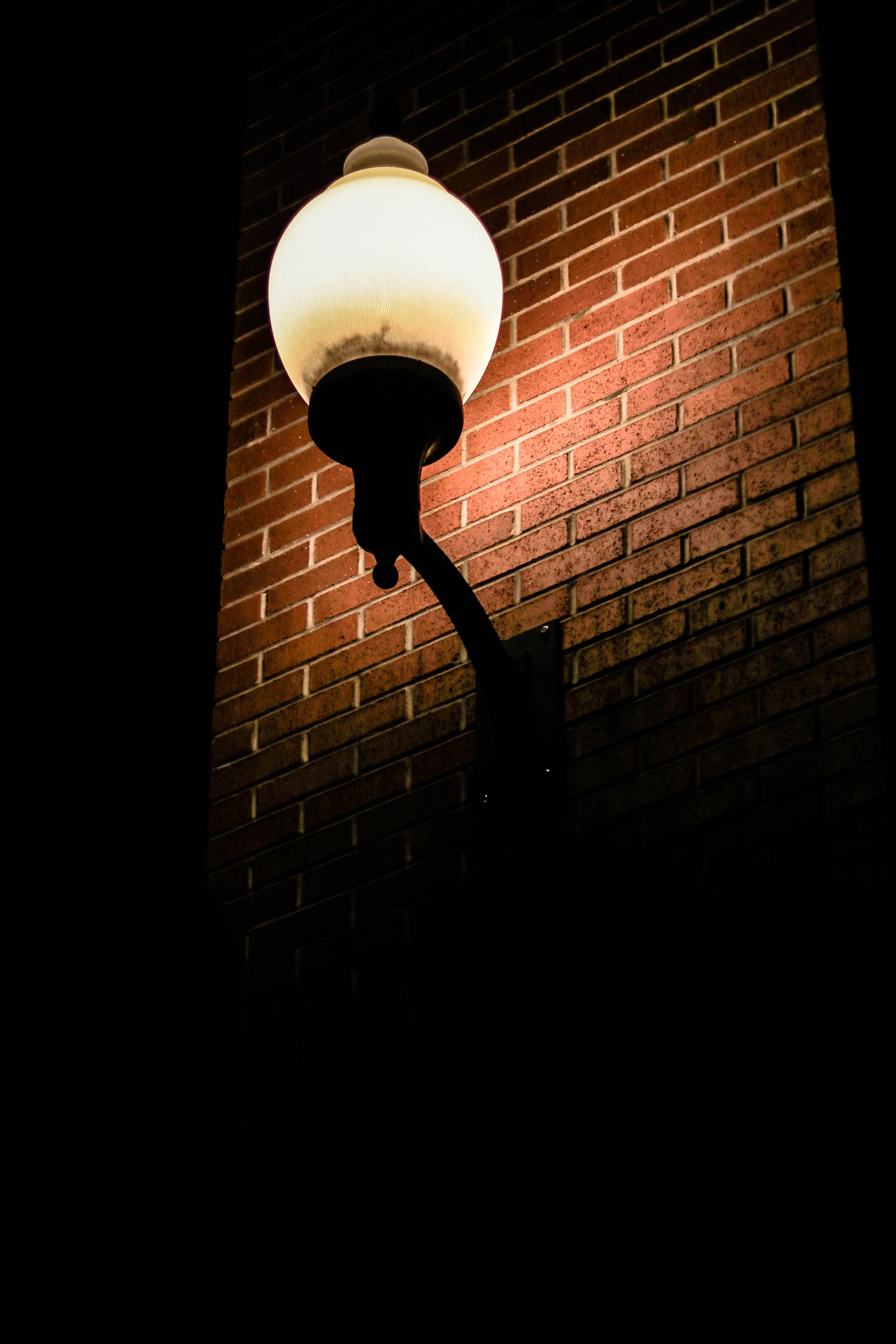 turned on lights on sconce