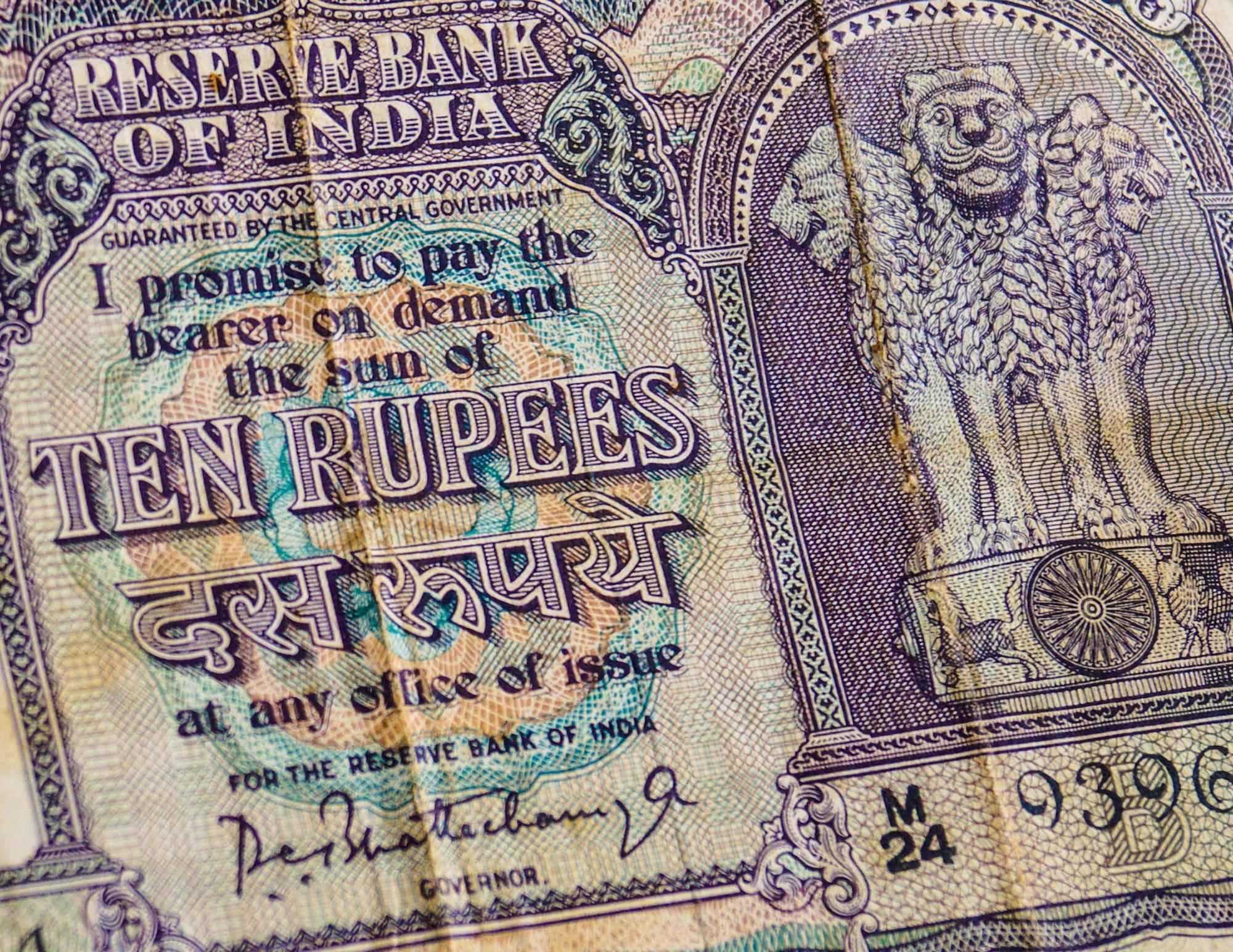 1947 Ten Rupees Note