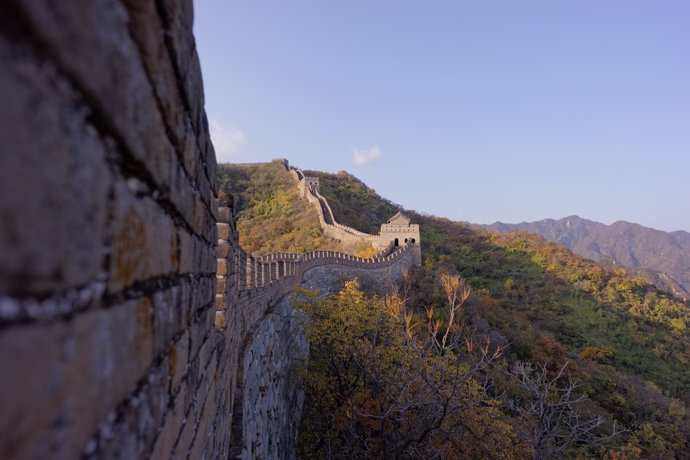 architectural photography of Great Wall of China