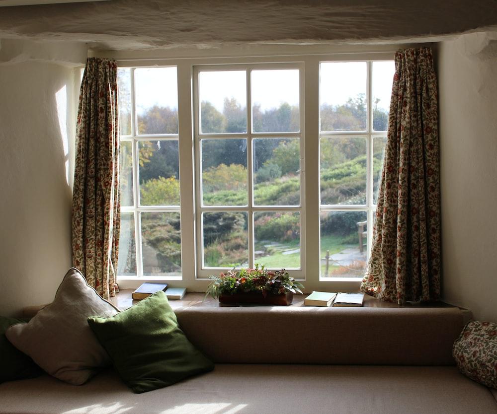 window curtain open wide